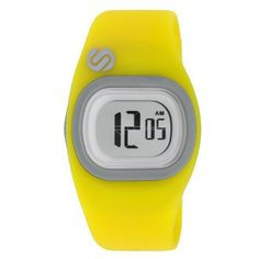 """Soleus Women's SR011901 Tigress Digital Chronograph and Yellow Silicone Strap Watch Soleus. $48.48. El backlight. Time and date display. Yellow silicone strap. Digital display with chronograph function. """"i eat miles for breakfast"""" printed on back plate"""