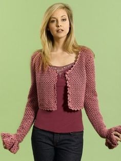 Lacy Cropped Cardigan