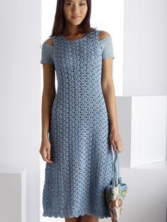 Blue Reflection Dress | Yarn | Knitting Patterns | Crochet Patterns | Yarnspirations