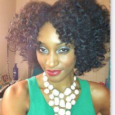 Asili Glam: Bantu knot tutorial on dry hair