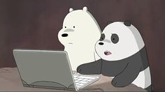 Cute Laptop Wallpaper, Cute Panda Wallpaper, Bear Wallpaper, Cartoon Profile Pictures, Bear Pictures, Cute Pictures, Ice Bear We Bare Bears, We Bear, We Bare Bears Wallpapers