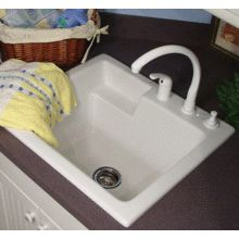 View the CorStone 12300 Single Basin Acrylic Laundry Sink from the Westerly Series at Build.com.