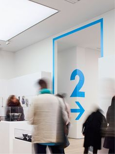 2012 Collect exhibition at the Saatchi Gallery, London. Wayfinding (and the rest) by OPX.