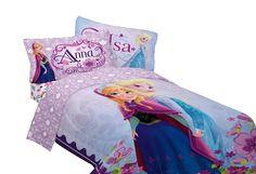 Disney Frozen Elsa Bed Comforter Bedding Sheet Set Decor Reversible Twin 4 Pcs #Disney