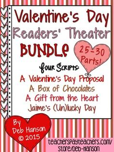 Are you looking for a fun Valentine's Day reading activity to do with your upper elementary or middle school students? Check out this set of Valentine's Day readers' theater scripts!