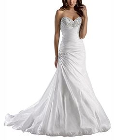 EnjoyBuys White Sweetheart Beads Crystal Mermaid Wedding Dress (US 24W, White) EnjoyBuys http://www.amazon.com/dp/B00Z06212Y/ref=cm_sw_r_pi_dp_fZ.4vb108PM57