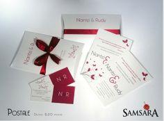 Caja postal, invitación de boda civil.