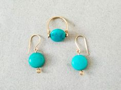 Earrings Ring Set, Turquoise Set Jewelry, Turquoise Set, Turquoise Stone Rings for Women, Turquoise Turquoise Rings, Turquoise Stone, Rings For Girls, Jewelry Polishing Cloth, Copper Jewelry, Stone Rings, Ring Earrings, Earrings Handmade, Earring Set