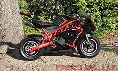 Mini Pocket Bike 50RR Gas Powered 2-Stroke 50cc (Red/Black) http://www.bestdealstoys.com/mini-pocket-bike-50rr-gas-powered-2-stroke-50cc-redblack/
