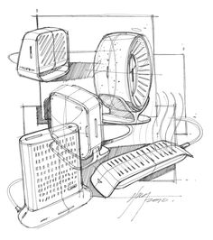 Sketch-A-Day 152: Space Heaters | Sketch-A-Day | Sketches by Spencer Nugent