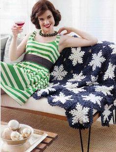 Star Motif Afghan free crochet graph pattern