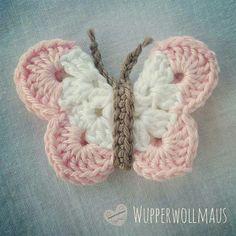 funny butterflies / crochet / instruction / e-book Sewing Patterns Free, Free Sewing, Crochet Patterns, Baby Knitting, Crochet Baby, Free Crochet, Crochet Hedgehog, Crochet Butterfly, Japanese Nail Art