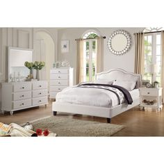 Poundex Schastia 5-piece Bedroom Set