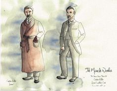 The Miracle Worker (Captain Keller). Costume design by Joscelyne Oktabetz. The Miracle Worker, Costume Design Sketch, Theatre, Opera, Costumes, Brown, Fashion Plates, Opera House, Dress Up Clothes