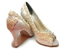 Lace Wedding Couture  Bridal Shoes Bride's by lambsandivydesigns, $124.95