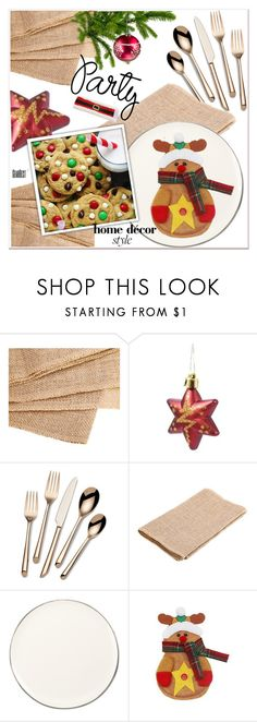 """""""Deck the Halls for Your Holiday Party"""" by paculi ❤ liked on Polyvore featuring interior, interiors, interior design, home, home decor, interior decorating, Towle, Ralph Lauren Home, Home and decor"""