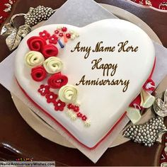 Best Ever Happy Wedding Anniversary Cakes With Name Aniversary