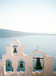 Chapel Bells and the Sea in Santorini