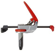 """Armor Auto-Pro In-Line Dog Clamp Turn any workbench with 20mm or 3/4"""" diameter dog holes into a complete clamping station without the need for a miter track. Simply drop the Armor Tools Auto-Pro In-Line Dog Clamp into a dog hole on your work surface, set the position, and rotate the lock knob to secure the clamp firmly in place. The Split Dog Peg allows for full 360° rotation before setting within the dog hole while the auto-adjust clamping toggle puts exactly the right amount of pressure..."""
