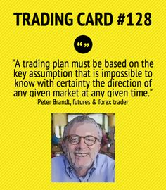 Trading Card #128: Trading Plan by Peter Brandt