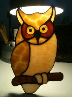 Owl Suncatcher - by Princess Stained Glass Workshop