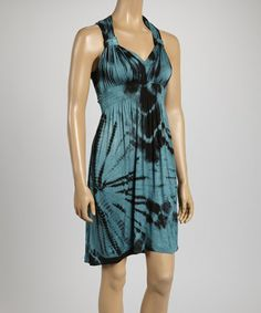 Another great find on #zulily! Peacock Tie-Dye Dress - Women by Raya Sun #zulilyfinds