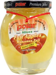 Fuji Apple Slice in Light Syrup in Jar 12/10oz. ** Insider's special offer that you can't miss : Baking Desserts recipes