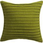 fold green pillow with feather-down insert.