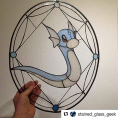 Dratini . . . #stainedglass #stainedglassgeek #nintendo  #dratini #Draw #Drawing #Art #Fanart #Artist #Illustration #Design #sketch #doodle #tattoo #Arthelp #Anime #Manga #Otaku #Gamer #Nerdy #Nerd #Comic #Geek #Geeky