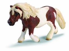 Shetland Pony by Schleich. Zoological Name: Equus ferus caballus. Fun Fact: As the strongest of all horses and ponies in terms of size, Shetland ponies can pull twice their weight. Shetland ponies became a hardy breed as they survived the harsh weath. Schleich Horses Stable, Horse Stables, Pony Breeds, Horse Breeds, Bryer Horses, Best Baby Toys, Farm Toys, Fantasy, Farm Life