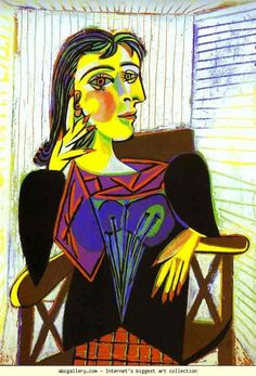 Picasso's Portrait of Dora Maar. His companion and muse Picasso bought her a home in Menerbes, France. It is now a writer and artist retreat. Congratulations to Seamus Scanlon on his fellowship at Dora Maar House. Kunst Picasso, Art Picasso, Picasso Paintings, Picasso Style, Portraits Cubistes, Cubist Portraits, Dora Maar Picasso, Giacometti, Georges Braque