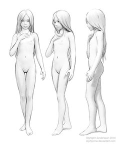 Girl naked full body drawing hot nude