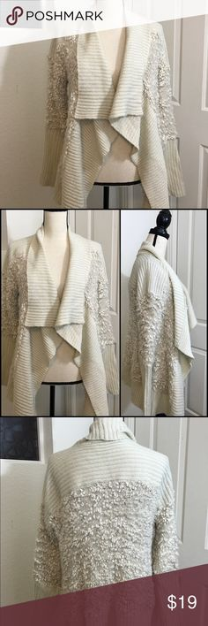 """Kensie Sweater Cardigan Jacket Cream Soft Knit Top Crazy soft open Cardigan sweater.   ⏬description continues below  *Condition: gently worn some pilling and does shed a little depending on what you are wearing.   *Size: large  *Material: acrylic   *Approx Measurements: LENGTH 26.5"""" 🛍Shop with confidence ⭐️️⭐️️⭐️️⭐️️⭐️️Rating  ◽️SUGGESTED USER  📫FAST SHIPPING  💵BUNDLE DEALS JUST ASK ✅OUT CLEARANCE SECTION DEALS 🚭SMOKE FREE HOME 🚫TRADES #5 Kensie Sweaters Cardigans"""