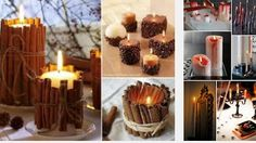 Enfeitando com velas