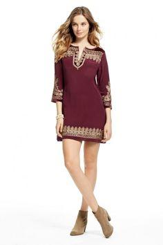 Prianka Silk Embroidered Dress