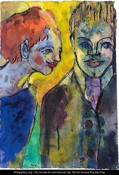 Junges Paar (Young Couple) - Emil Nolde