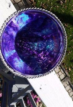 pretty in purple spitchallenge, crafts, Inside view