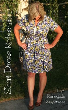 DIY Shirt Dress Refashion Tutorial