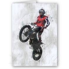 Trials rider birthday card