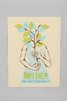 urban outfitters bon iver print! LOVE LOVE LOVE. this will be hanging in my apartment soon