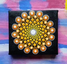 Original Sun Mandala Painting by Cherie Prinsloo  #dotartist #dotify