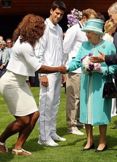 Serene Williams  When Worlds Collide: Celebrities Mingle With Royals: Prince William met Pharrell Williams in July 2006 at the Audi Polo Challenge in Midhurst, England.: Mila Kunis, Ashton Kutcher, and