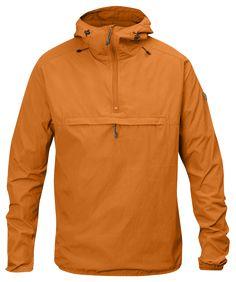 Fjallraven Men's High Coast Wind Anorak Jacket, Seashell Orange, S Anorak Jacket, Vest Jacket, Outdoor Men, Outdoor Stuff, Men's Leather Jacket, Packable Jacket, Men's Wardrobe, Apparel Design, Dress Codes
