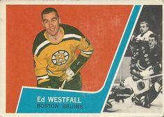 Ed Westfall - Boston Bruins. 1963-64 Topps rookie hockey card.