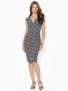 Ralph Lauren Ikat-Print Jersey Dress #officetrends #inspiration #workwear