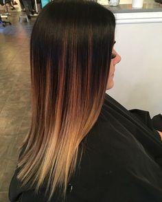Brown and caramel balayage hair melt