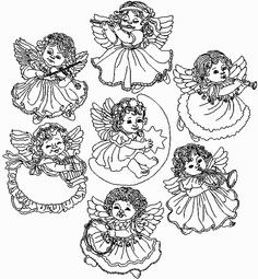 Dibujos y Plantillas para imprimir: Angelitos