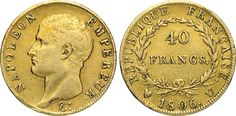 NumisBids: Numismatica Varesi s.a.s. Auction 65, Lot 723 : NAPOLEONE I, Imperatore (1804-1814) 40 Franchi 1806 Torino. Pag....