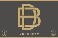 BD Monogram DB Monogram  @creativework247
