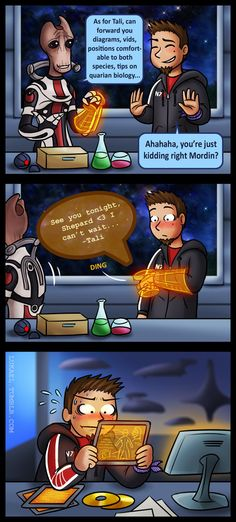 Mass Effect: Time to study by Lukael-Art on deviantART